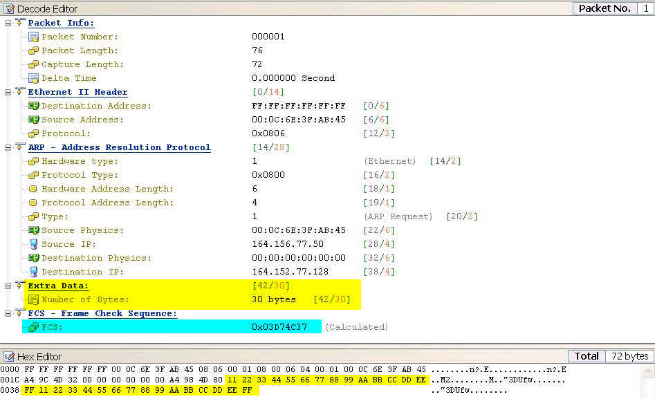 Interesting Traces - Wireshark\'s analysis of ARPs